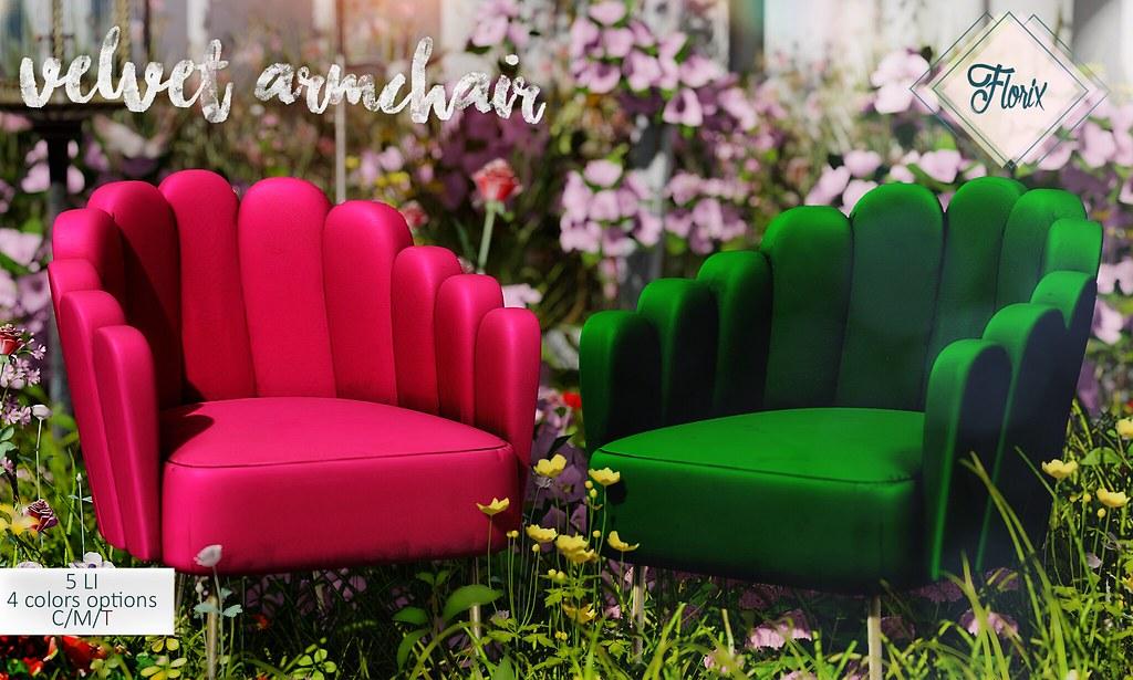 .Florix. Velvet Armchair – Access
