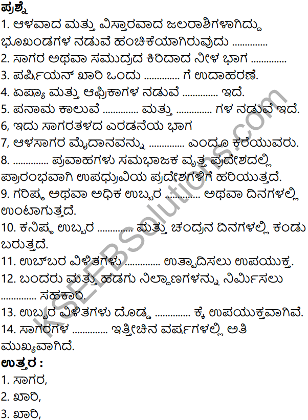 KSEEB Solutions for Class 8 Geography Chapter 4 Jalagola in Kannda 12
