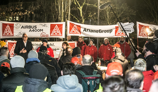 Warnstreik bei Bosch Automotive Steering am 09.01.20