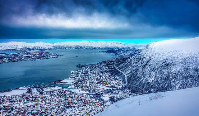 View of Tromso, Norway from the Big Rock - 29a