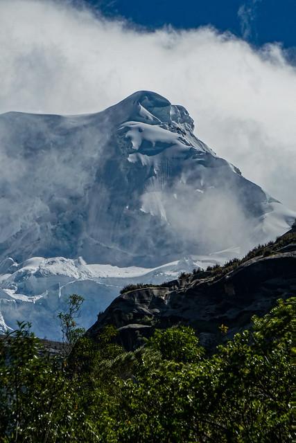 Hualcán 6104 m, arista oeste.