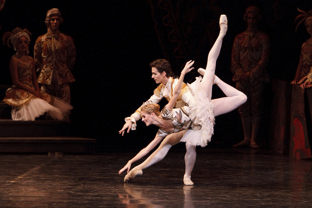 Heather Ogden and Guillaume Côté in The National Ballet of Canada's production of Rudolf Nureyev's The Sleeping Beauty © Bruce Zinger