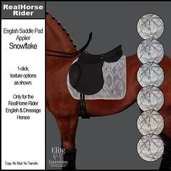 Elite Equestrian - RealHorse Rideable - English Saddle Pad Applier - Snowflake
