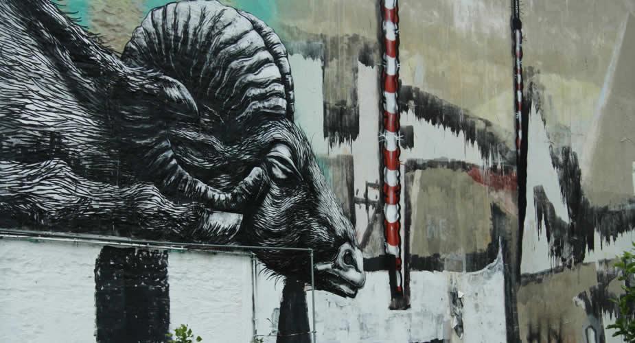 Street art in Kreuzberg (ROA) | Mooistestedentrips.nl