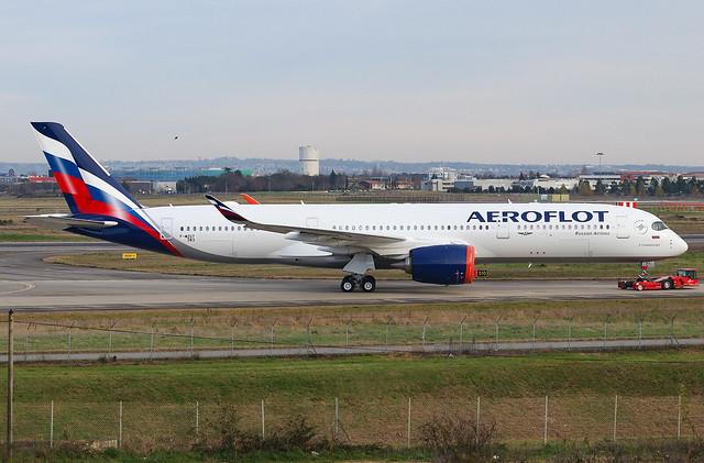 F-WZGT 1st Airbus A350 Aeroflot