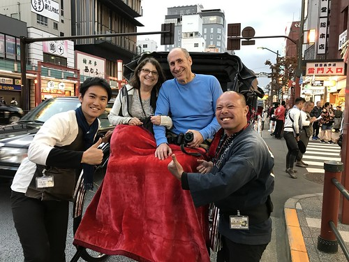 Two Rickshaw Runners pose with us. From History Comes Alive in Tokyo