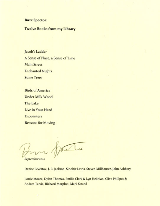 11 Books from my Library (for James Butler)