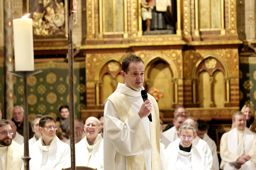 Derniers voeux du P. Antoine Paumard sj le samedi 11 janvier en l'église Saint-Ignace à Paris