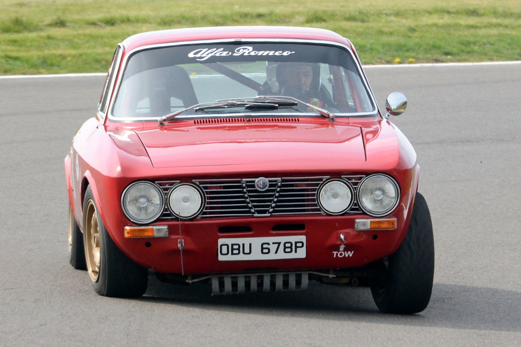 The Alfa Romeo GTV of Mike Henney at Anglesey (N Lambert)
