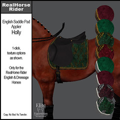 Elite Equestrian - RealHorse Rideable - English Saddle Pad Applier - Holly