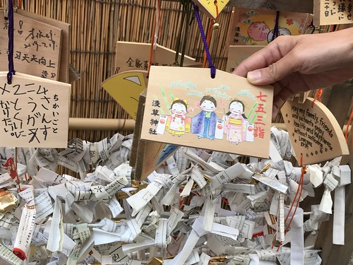Prayers left at temple. From History Comes Alive in Tokyo