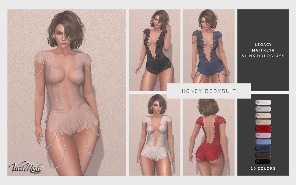 [WellMade] Honey Bodysuit