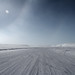 Partial sundog and winter ice road in the high arctic