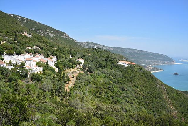 Convento da Arrabida and coastline Arrabida