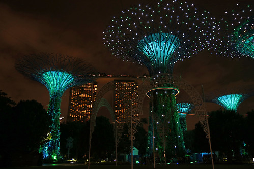 70. 'Super Tree Grove', OCBS Skyway And, Marina Bay Sands Hotel And Skypark, Gardens By The Bay, Singapore