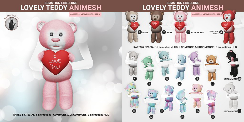 SEmotion Libellune Lovely Teddy Animesh