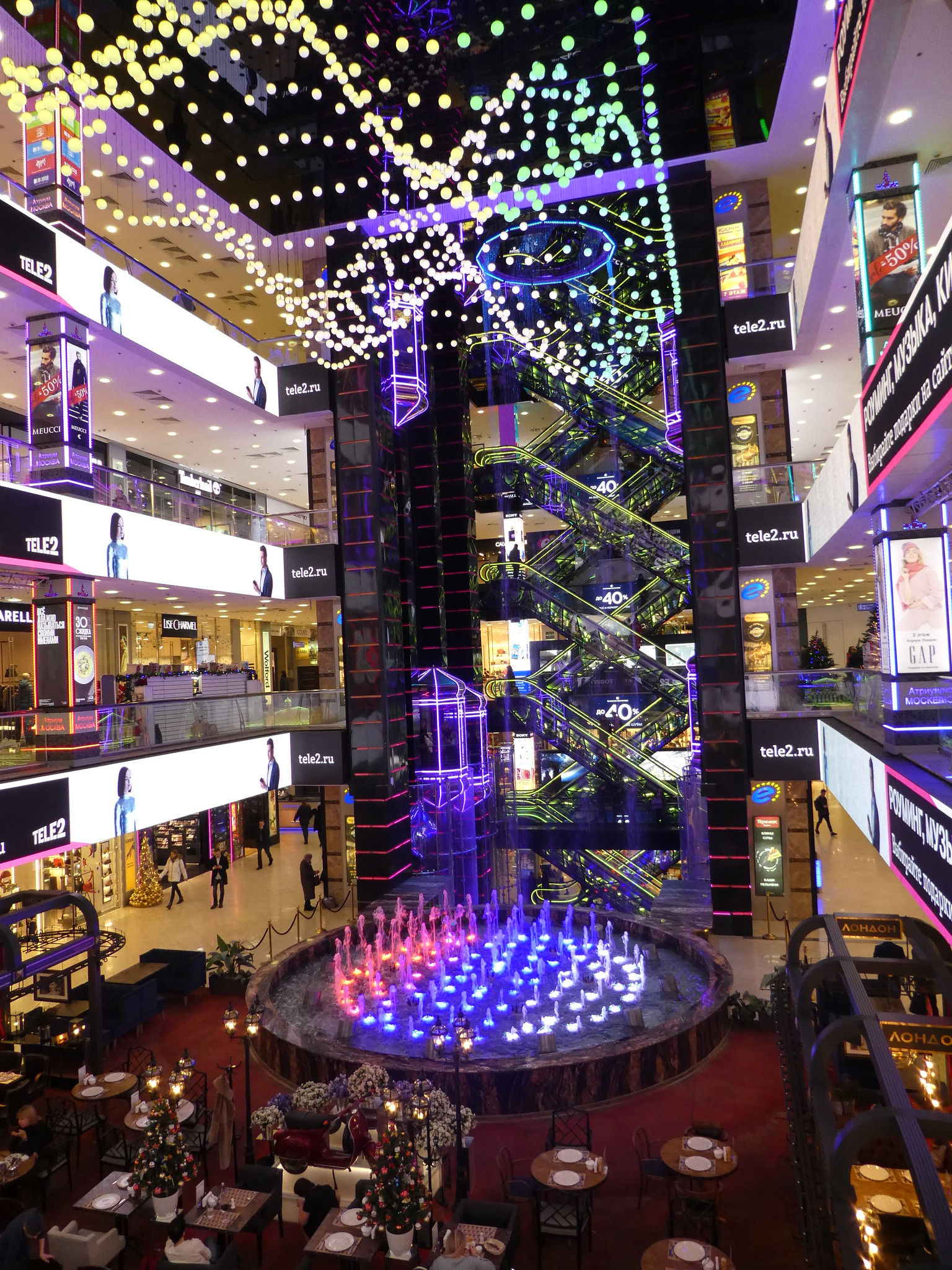 Inside the Europeisky Shopping Mall, Moscow