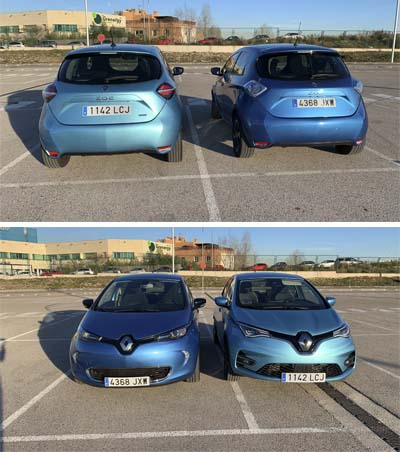 Renault ZOE comparativa 2017 versus 2020