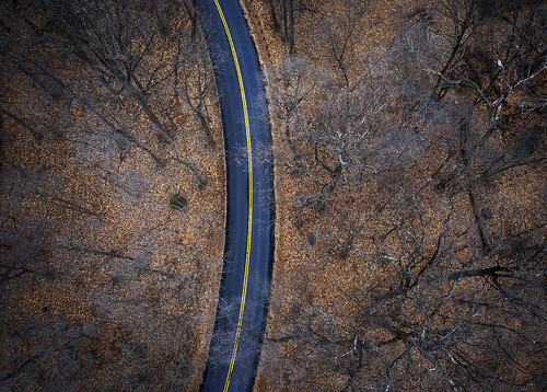 landscape winter 2020 aerial drone dji photography delaware earth road trees fall