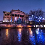 Preston's Harris Museum at night