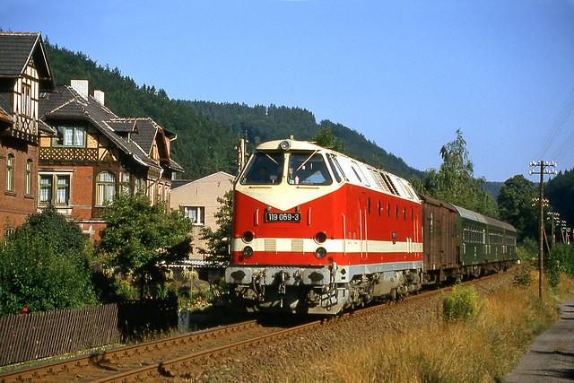 DR 119 069 Sonneberg (D) 29 augustus 1991