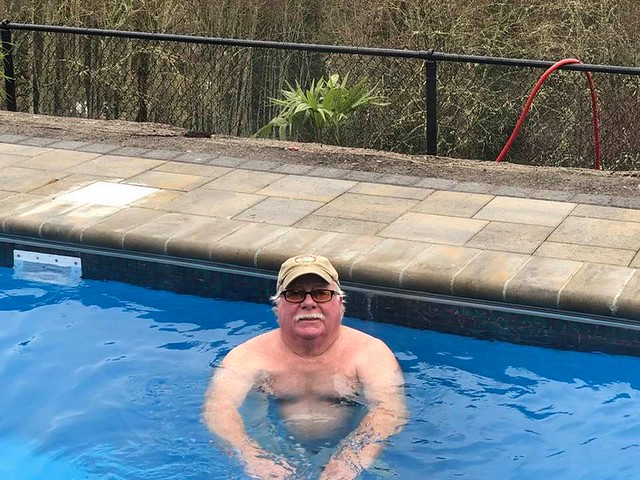 Old fart in the new pool
