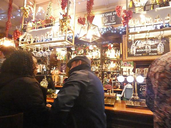 in a pub