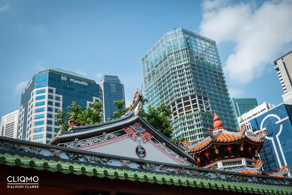 Old vs New: Thian Hock Keng, Singapore