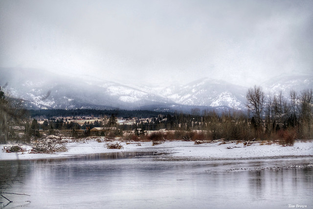 'Winter In Hamilton Montana'