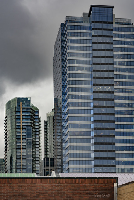 Glass towers in Bellevue 2020