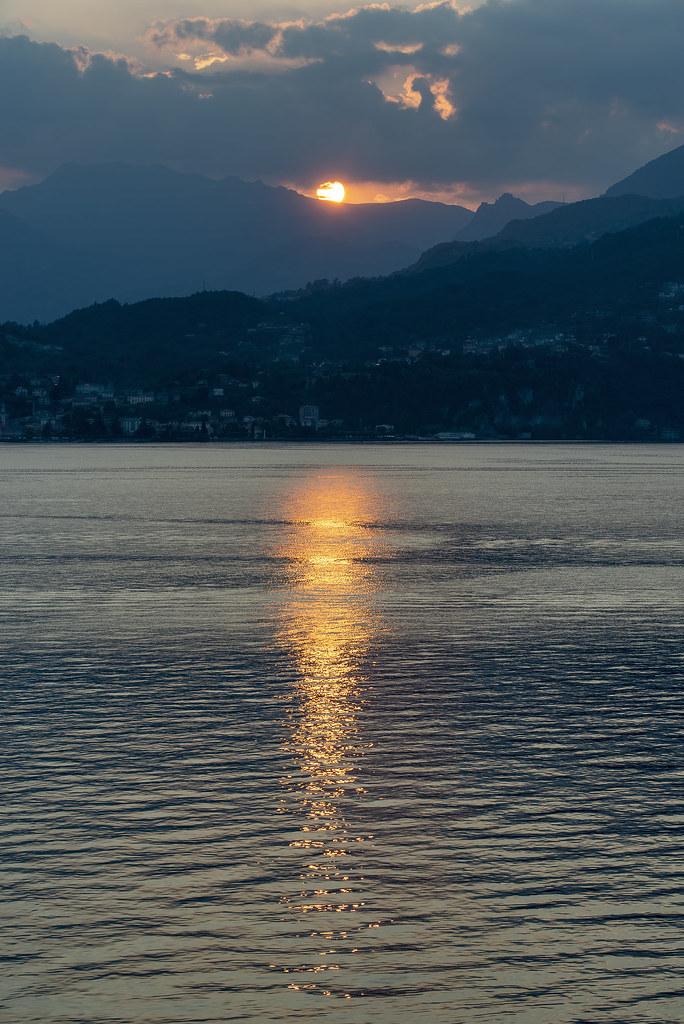 Sunset behind Menaggio