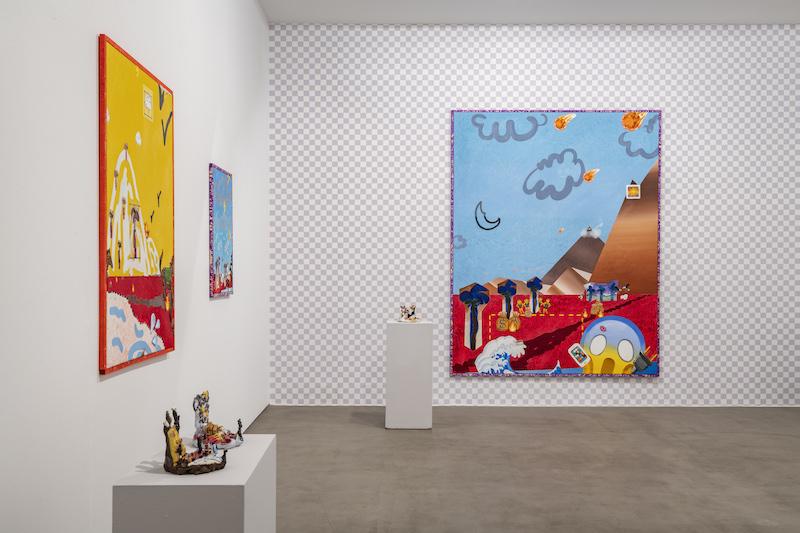 """Hell Gette 11 Exhibition view: """"#LANDSCAPE3.0"""", Galerie Karl Pfefferle, Munich, 2k19"""