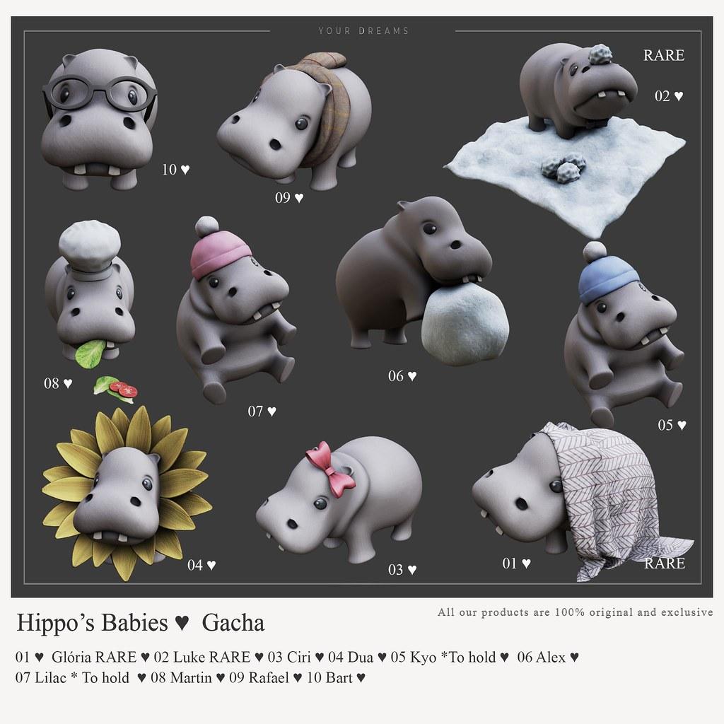 {YD} Hippo's Babies ♥ Gacha
