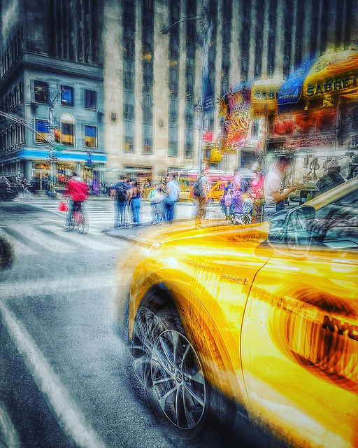 Red Jacket Yellow Cab