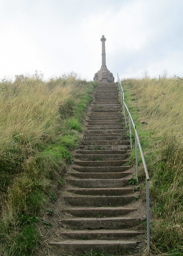 Steps up to Kilrenny War Memorial