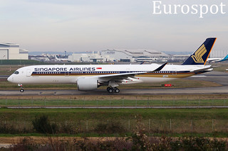 F-WZHK Airbus A350 Singapore Airlines