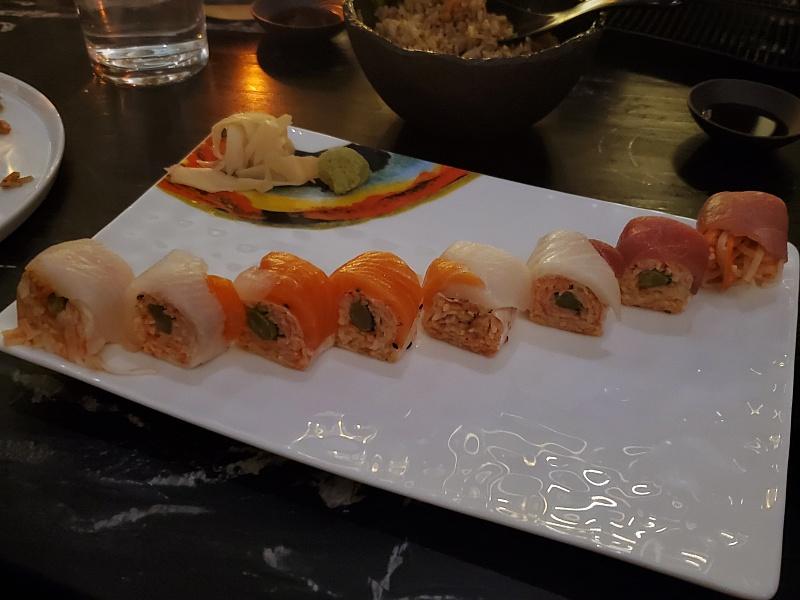Akira Back sushi rolls
