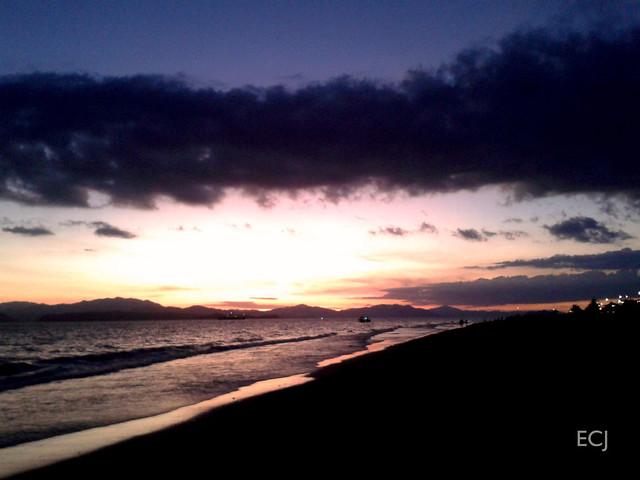 El atardecer en Puntarenas, mirando al Golfo de Nicoya/ The sunset at Puntarenas, looking out to the Nicoya gulf