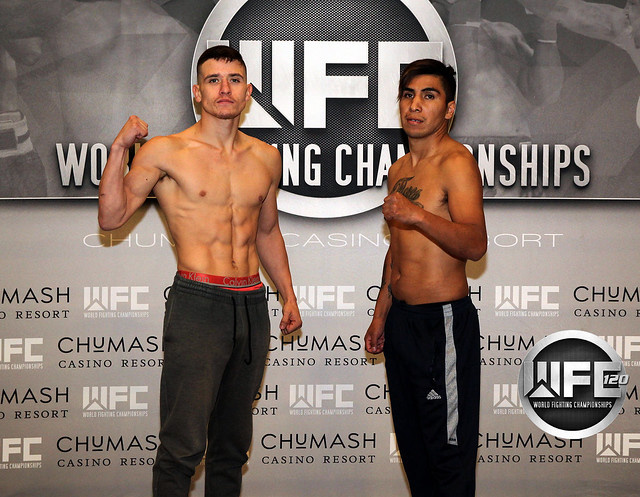 WFC 120 1/9/20 Weigh-Ins at Chumash Casino