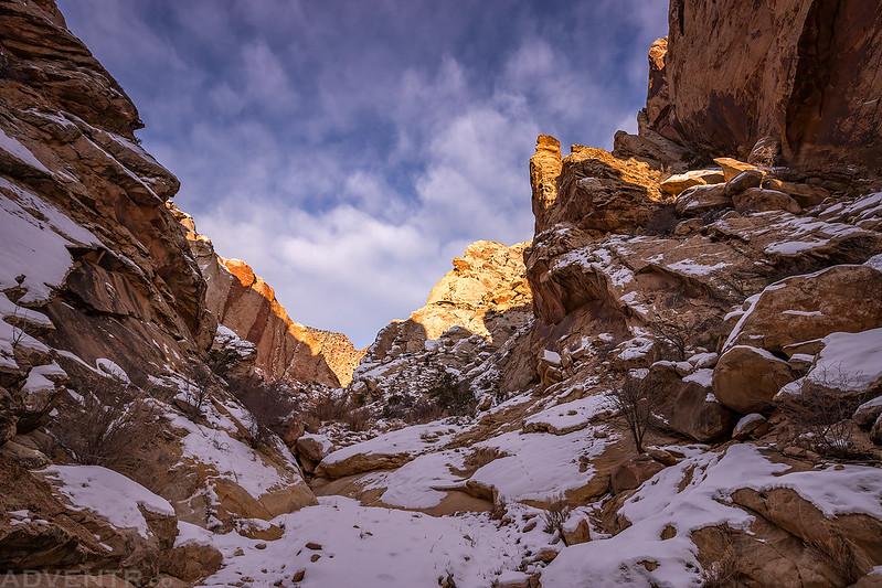 Uneva Canyon Snow