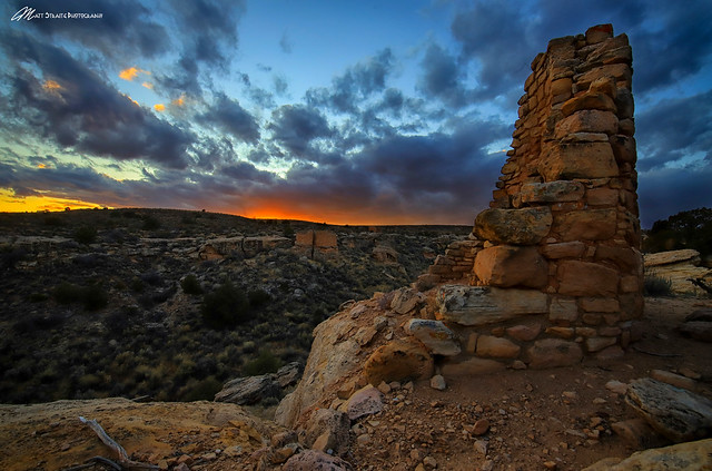 The sunsets over Hovenweep