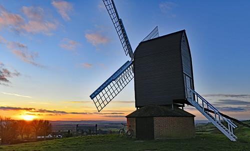 sunset windmill brill brillwindmill winter lynskeyridgeline nikond850 nikon247028g pnkclouds orange
