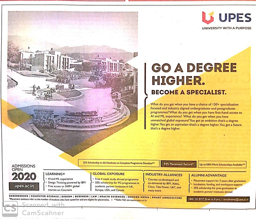 UPES Admission 2020