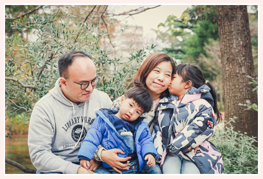 Kids (family) photo shooting in Nagoya, Japan