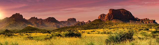 Big Bend Sunset Mountains