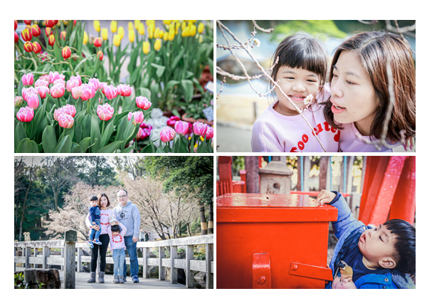 family photo shooting in Nagoya, Japan, Tulips