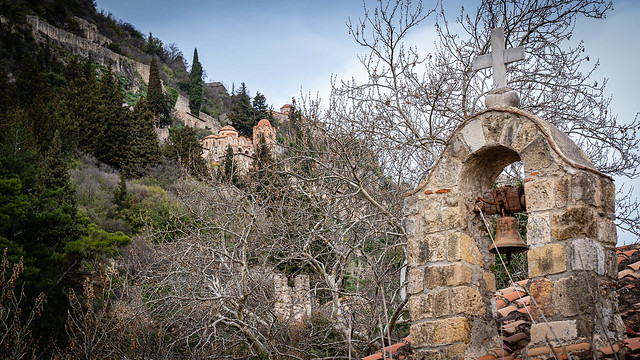 Mystras or Mistras, Laconia, Peloponnese, Greece