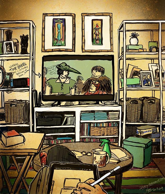 Living Room watching Time Bandits