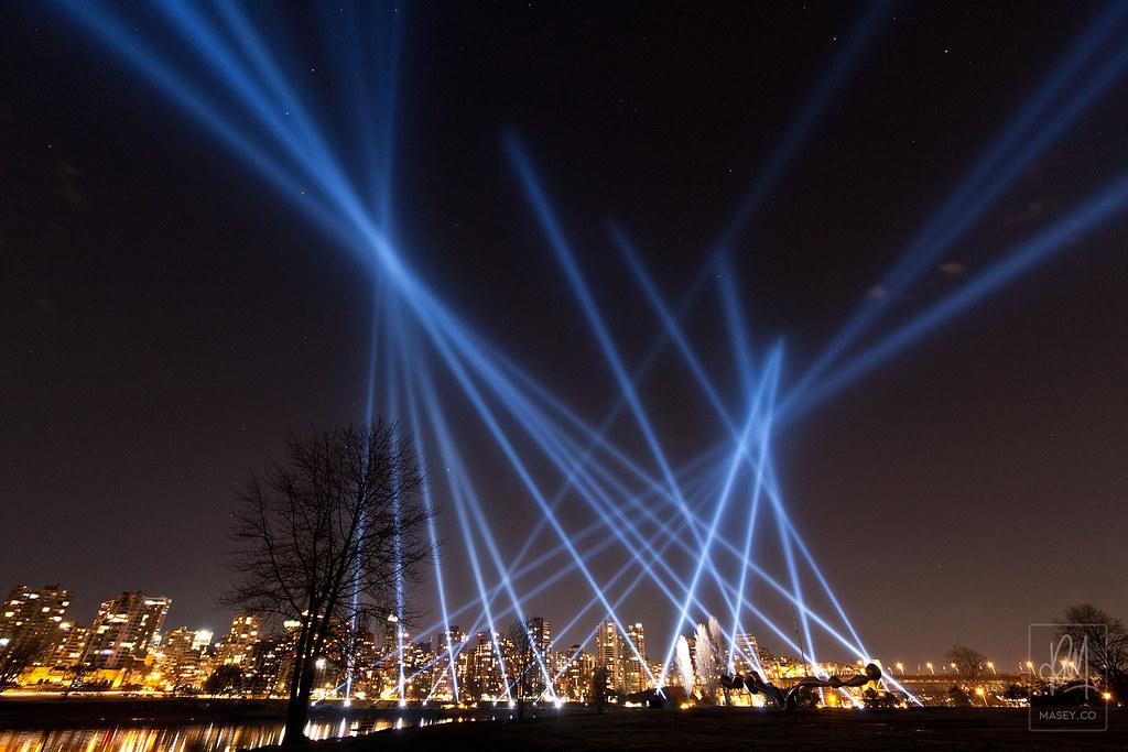 Vectorial Elevation lights up the sky over False Creek