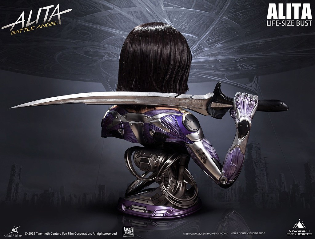 超高度還原!Queen Studios《艾莉塔:戰鬥天使》艾莉塔 1:1比例 半身胸像(ALITA: BATTLE ANGEL 1:1 SCALE LIFESIZE BUST)